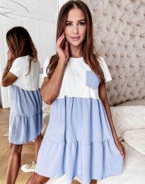 Дамска рокля в светлосиньо - код 2506