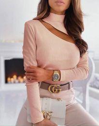 Елегантна блуза в цвят праскова - код 11490