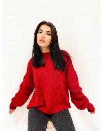 Дамски пуловер в червено - код 4172