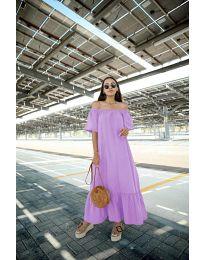 Дълга рокля в лилав цвят - код 3636