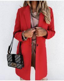 Свободно палто в червено - код 7709