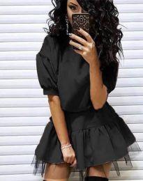 Дамска рокля в черно - код 2856