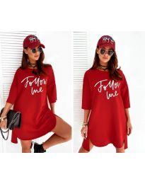 Дамска рокля в червено - код 0522