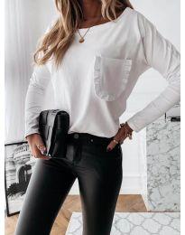 Дамска блуза в бяло - код 0382