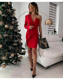 Елегантна рокля в червено - код 15944