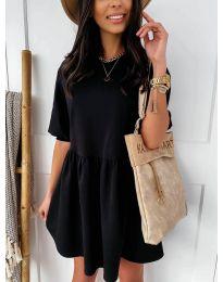 Елегантна къса рокля в черно - код 789