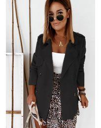 Дамско палто в черно - код 826