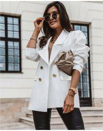 Свободно дамско сако в бяло - код 5868