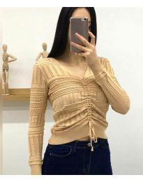 Дамска блуза в бежово - код 385