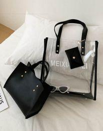 Атрактивна дамска чанта в черно - код B304