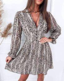 Дамска рокля с атрактивен десен - код 8434 - 7
