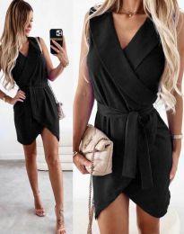 Атрактивна дамска рокля в черно - код 7793
