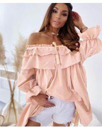 Ефектна рокля в розово - код 9865