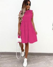 Феерична рокля в цвят циклама - код 2663