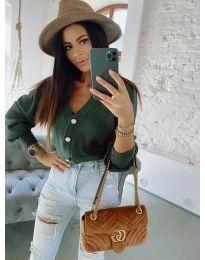 Дамска блуза в маслено зелено - код 241