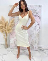 Елегантна дамска рокля в бяло - код 10033