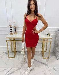 Стилна рокля по тялото в червено - код 11808