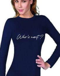 Дамска блуза в тъмносиньо - код 3339