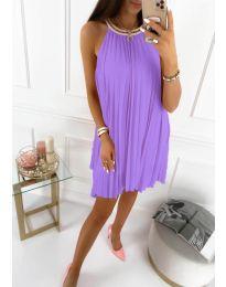 Изчистена рокля в лилаво - код 1172