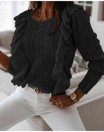 Дамски пуловер в черно - код 9087