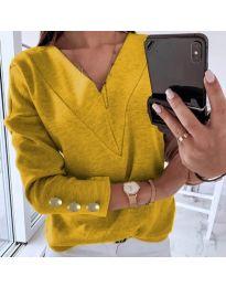 Дамска блуза в цвят горчица - код 0990