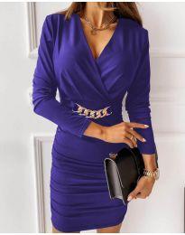 Дамска рокля в лилаво - код 8999