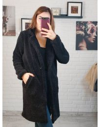 Дамско палто в черно - код 5144