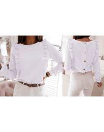 Дамска блуза в бяло - код 4171