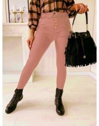 Дамски панталон в цвят пудра - код 9095