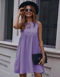 Свободна рокля в лилаво - код 0286