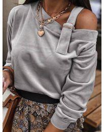 Дамска блуза в сиво - код 280