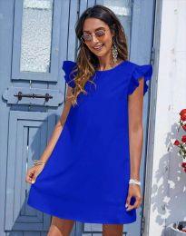 Къса дамска рокля в тъмносиньо - код 6261