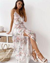 Стилна дълга рокля - код 4800 - 2