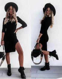 Стилна дамска рокля в черно - код 2358