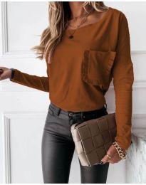 Дамска блуза в кафяво - код 4450