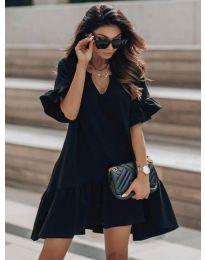 Свободна дамска рокля в черно - код 6868