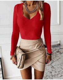 Дамска блуза в червено - код 4086