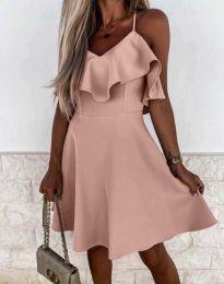 Атрактивна дамска рокля в розово - код 2739