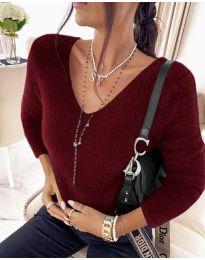 Дамска блуза в бордо - код 8051