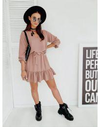 Дамска рокля в розово - код 4146