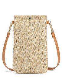 Малка дамска чанта в цвят капучино - код B462