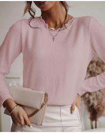 Атркактивна дамска блуза в розово - код 1580