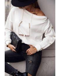 Дамска блуза в бяло - код 4640