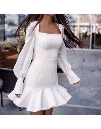Елегантна рокля в бяло - код 3605