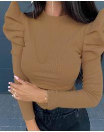 Дамска блуза в кафяво - код 8027