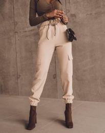 Елегантен панталон в цвят праскова - код 2985