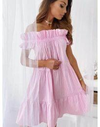 Свободна рокля в розово - код 0299