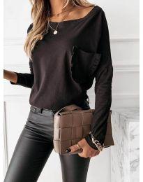 Дамска блуза в черно - код 0382