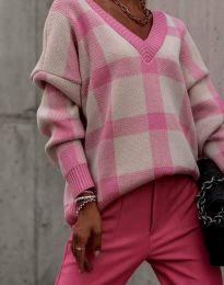 Ефектен дамски пуловер - код 0432 - 1