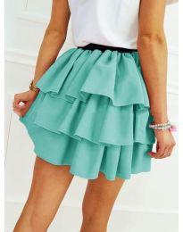 Къса пола на волани в цвят мента - код 913